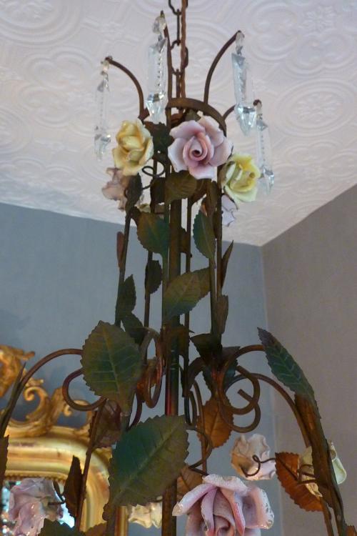 Italian floral Lamp.
