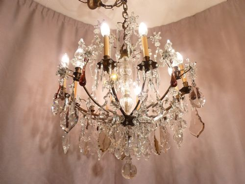 WE Are selling this extaodinary, Bronze and crystal chandelier from the  famous Paris maker,